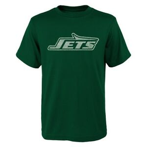 """New York Jets NFL Youth Green """"Distressed Vintage Logo"""" T-Shirt"""