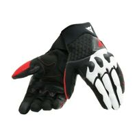 Gloves moto Dainese X-moto black white red spring summer perforated certified