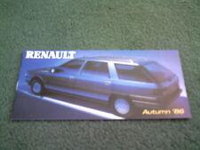 Autumn 1986 RENAULT UK RANGE BROCHURE 5 GT TURBO 9 11 21 25 GTA ESPACE EXTRA VAN