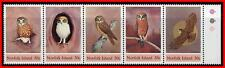 NORFOLK 1984 BIRDS / OWLS  SC#343  MNH (folded)  E=B2