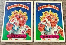 Nicky Hickey/Hank E. Panky - 1986 Series 4 Garbage Pail Kids Cards #130a/130b