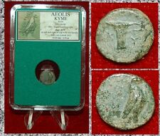 Ancient Greek Coin AEOLIS KYME Eagle and One Handled Cup on Reverse