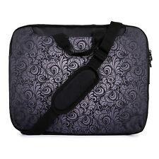 "TaylorHe 15.6"" DEFECT Laptop Shoulder Bag With Handles Strap Black Paisley"