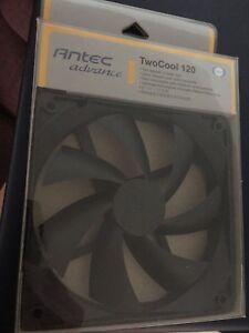 Antec TwoCool120 Case Fan  120mm 1200 RPM  3-Pin/4-Pin Sleeve Max Flow 42.6 CFM