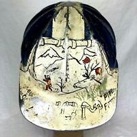 Alaska Pipeline Alyeska Pipefitter Hand Painted SuperLite Fibre Metal Hard Hat