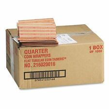 Coin-tainer Company Flat Paper Quarter Coin Wrappers 1000 Count