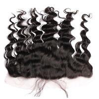 Luxury Virgin Peruvian Loose Wave Lace Frontal Closure 13x4 Virgin Hair 7A