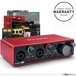 Focusrite Scarlett 2i2 3rd Gen, 2021 Model, USB Audio Interface + Plugin Bundle