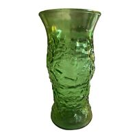 E. O. Brody Co. Vintage 1960's Green Crinkle Glass Vase Made In The USA