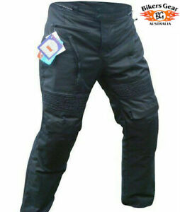 Australian Bikers Gear Mens Motorcycle Waterproof cordura trouser CE armoured