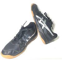 Asics Women's Gel-Upcourt Volleyball Shoes Black Silver B450N Gum Size 8.5