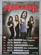 AIRBOURNE 2010 TOUR  orig.Concert-Konzert-Tour-Poster-Plakat DIN A1