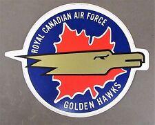 vintage RCAF ROYAL CANADIAN AIR FORCE GOLDEN HAWKS peel off sticker