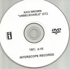 KACI BROWN Unbelievable RARE TST PRESS PROMO DJ VIDEO DVD Single 2005 USA MINT