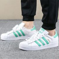 New ADIDAS Originals Superstar Athletic Sneaker Mens white mint green size 10-12