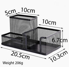 Deli Mesh Desk Organizer Office Supplies Caddy with Pencil Holder and Storage Ba