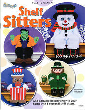 """""""SHELF SITTERS""""~Plastic Canvas PATTERN BOOK ONLY~8 Designs~SEE PICTURES"""