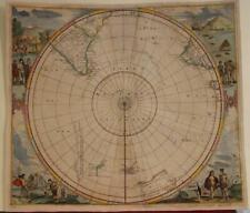 SOUTH POLE ANTARCTICA 1657 JAN JANSSONIUS ANTIQUE ORIGINAL COPPER ENGRAVED MAP