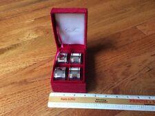 Set of 4 Godinger Silver Art Napkin Rings GSA silver treasures with box