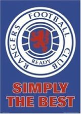 RANGERS FOOTBALL CLUB ~ SIMPLY THE BEST 24x36 POSTER FC Soccer Crest UEFA