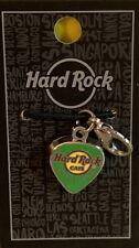 "Hard Rock Cafe BARCELONA 2019 Green ""CHARM"" GUITAR PICK with Clip for BRACELET"