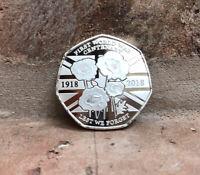 LEST WE FORGET 50P COIN SOUVENIR FIRST WORLD WAR 1918 Album / Kew Gardens New