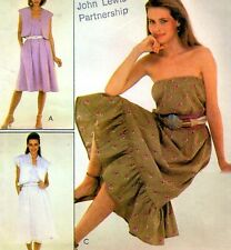 EASY Vintage 80s DRESS & JACKET Sewing Pattern Bust 92 & 97 cm RETRO Party