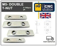 M5 DOUBLE LONGER SLIDING T NUT V-SLOT ALUMINIUM EXTRUSION PROFILE 20 SERIES