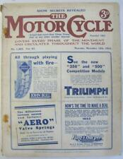 The Motor Cycle 12 Nov 1931 Motorcycle Magazine Brough 4 Cyl New Imperial Test