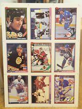 1991 TOPPS UNCUT HOCKEY CARD SHEET (PRE-PRODUCTION SAMPLES)