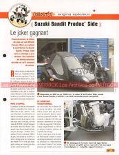 SUZUKI GSF 1250 650 Bandit Joker Produc'Side Car Joe Bar Team Fiche Moto #006656