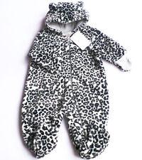 Plüsch Fleece Overall Gr.62 H&M NEU Leo schwarz weiß einteiler winter baby