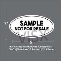 SAMPLE not for resale Oval Circle Sticker Decal city AMERICA (5 Pack)