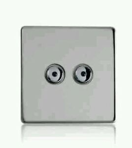 RARE NEW HomeEasy HE108S Dimmable Remote Control Light Switch 2G Stainless Steel