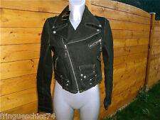 veste courte en jeans noir MC PLANET JEANS t 40 NEUVE ÉTIQUETTE  haut de gamme
