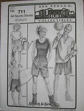 Ann Person Collectibles - All Sports Shorts 711 Stretch & Sew (Pattern Only)