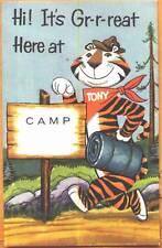 c1960s Tony the Tiger at Summer Camp Kellogg's advertising postcard