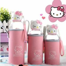 Hello Kitty Glass Water Bottle Portable High Boron Silicon High-temperature Free