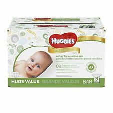 HUGGIES Natural Care Baby Wipes, Refill Pack (648  Sheets Total), Fragrance-fre