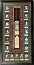 Don Bradman & The Invincibles SIGNED 1948 Australian Cricket 17 Team Bat COA