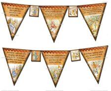 Peter Rabbit DIY Bunting Banner Flags Prop Party Shower - 210gsm Cardstock
