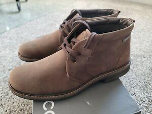 ECCO Turn GTX Gore-Tex Chukka Boot - Cocoa Brown Leather -Men's  EU 43 US 9-9.5