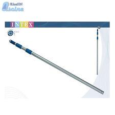50004 29054 Asta telescopica piscina cm 120x240 SOLO X kit di pulizia TRIS Intex