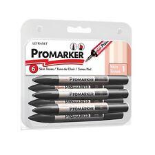 Letraset promarker 6 pen set-tons de peau set 1