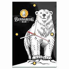 2017 Bundy Bear Bundaberg Rum Glass CLOCK Bar Man Cave Fathers Mothers Gift