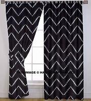 Indisch Hand Krawatte Färbung Fenster Vorhänge Baumwolle drapieren Dekor Vorhang