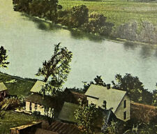 Marietta Ohio Postcard c1907 River View Houses Farmland Vintage Rotograph