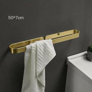 Solid Space Aluminum Towel Bar Single Towel Rail Bathroom Brushed Gold Hardware