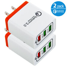 2x USB Wall Charger Qualcomm Quick Charge for iPhone X Samsung Galaxy S9 Note 8