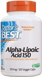 Alpha Lipoic Acid by Doctor's Best, 120 capsule 150 mg